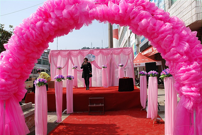 Portable stage for wedding show