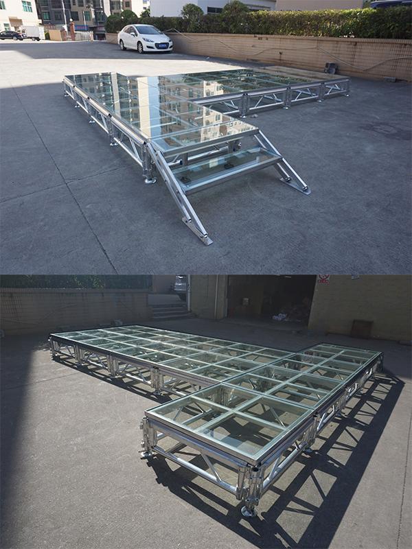 custom glass stage