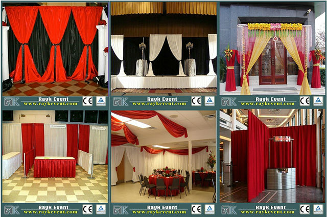 RK backdrop curtains and drapes
